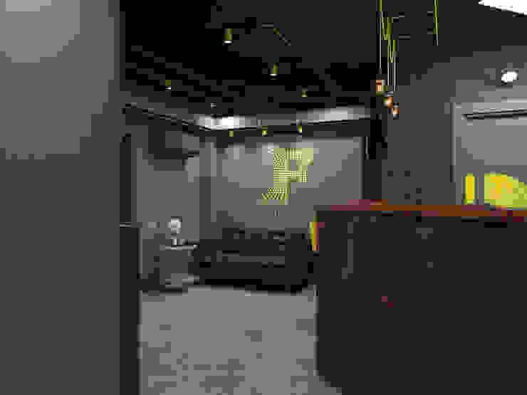 Ruang Komersial Minimalis Oleh Tutto design Minimalis Besi/Baja