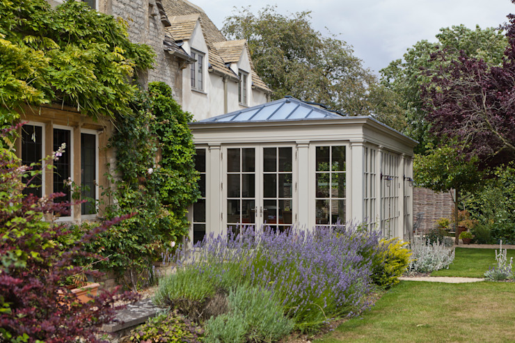 Kitchen Extension Conservatory on a Country Home Vale Garden Houses Classic style conservatory Wood Beige