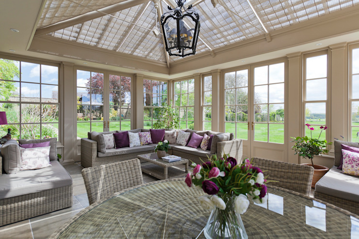 Perfectly Proportioned Georgian Orangery Vale Garden Houses Classic style conservatory Wood White