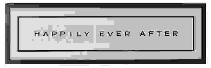 Happily Ever After Framed Quote Chambre originale par Little Mill House Éclectique