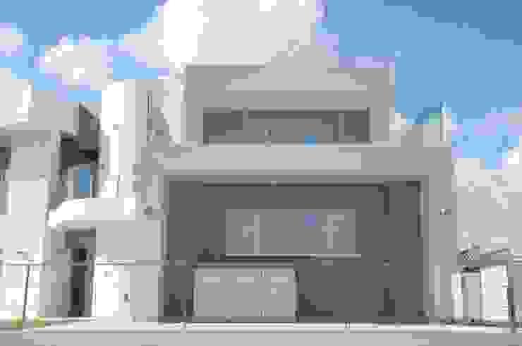 doble escala en la vivienda unifamiliar moderna de DYOV STUDIO Arquitectura, Concepto Passivhaus Mediterraneo 653 77 38 06 Mediterráneo Arenisca