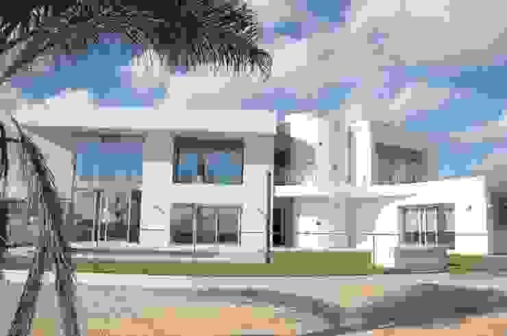 Villa moderna : Luz para repartir de DYOV STUDIO Arquitectura, Concepto Passivhaus Mediterraneo 653 77 38 06 Mediterráneo Arenisca