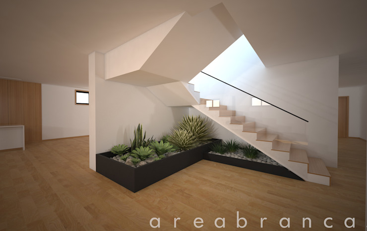 Salão Polivalente Salas de estar modernas por Areabranca Moderno