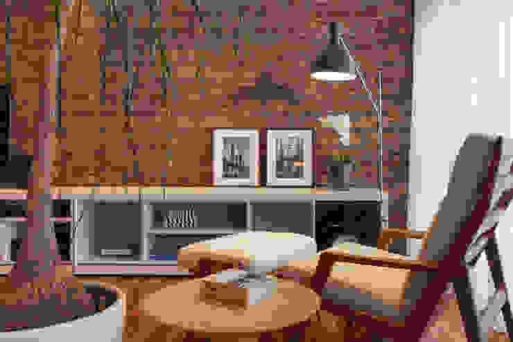 sala estar - canto leitura Salas de estar modernas por homify Moderno
