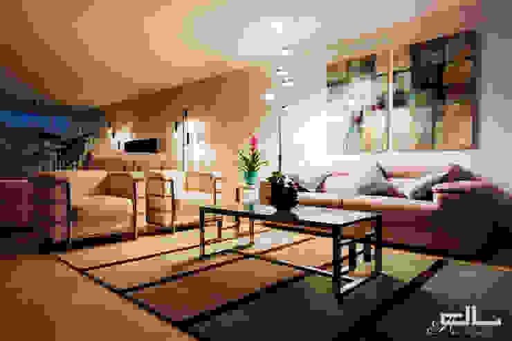 Moradia Bom Sucesso Salas de estar modernas por DL AMBIENTES Moderno