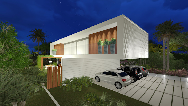 Casas estilo moderno: ideas, arquitectura e imágenes de Renata Matos Arquitetura & Business Moderno Madera Acabado en madera