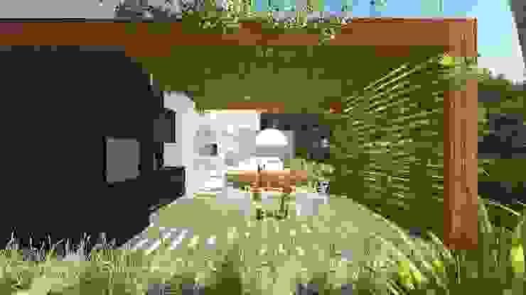 Balcones y terrazas modernos de Renata Matos Arquitetura & Business Moderno Madera Acabado en madera