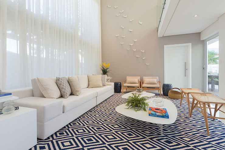 Renata Matos Arquitetura & Business Living roomAccessories & decoration Flax/Linen Multicolored