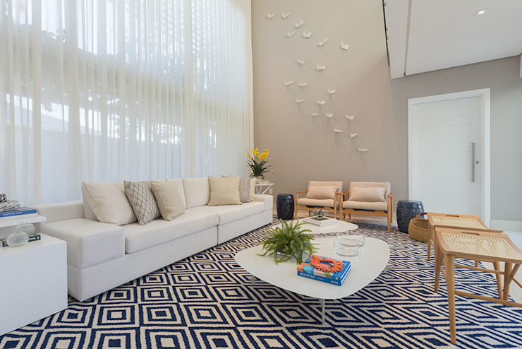 Renata Matos Arquitetura & Business Living roomAccessories & decoration Flax/Linen Beige