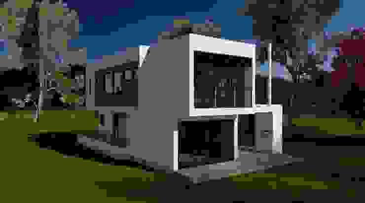 Vista desde el Jardin Casas de estilo minimalista de ARQvision BIM Sustainable Architecture Minimalista Hierro/Acero