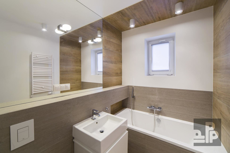Salle de bain scandinave par Pogotowie Projektowe Aleksandra Michalak Scandinave