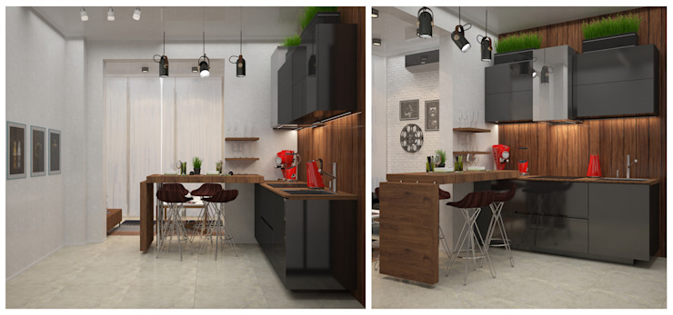 Minimalist kitchen by DONJON Minimalist Wood Wood effect