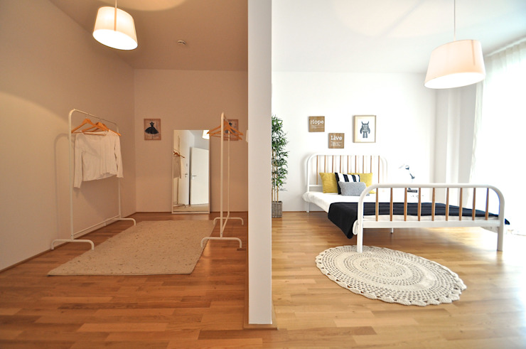 Karin Armbrust - Home Staging Scandinavian style dressing room