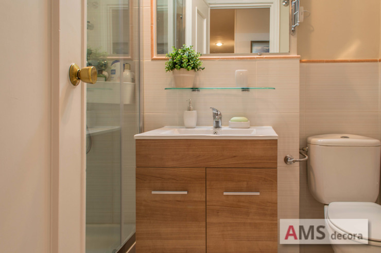 AMS decora BathroomToilets Wood effect