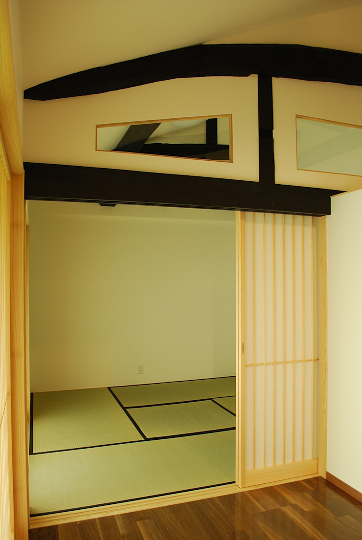西川真悟建築設計 Dormitorios de estilo moderno Madera