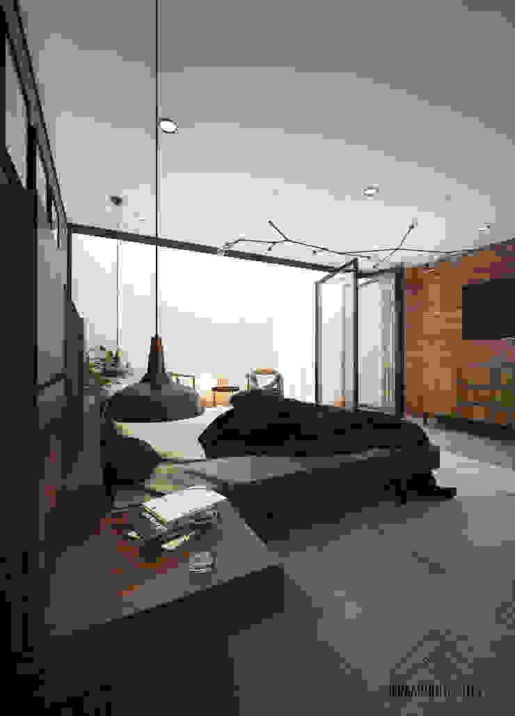 RECAMARA PRINCIPAL Dormitorios modernos de FERAARQUITECTOS Moderno