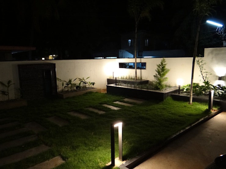 Front landscape area Modern style gardens by Hasta architects Modern