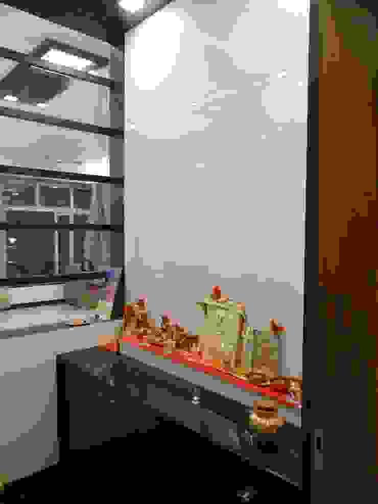Pooja Room Modern corridor, hallway & stairs by Hasta architects Modern