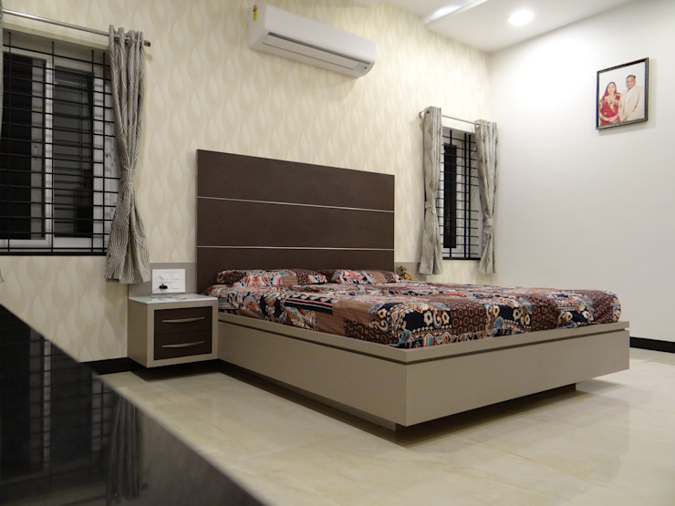 Ground floor master bedroom Modern style bedroom by Hasta architects Modern