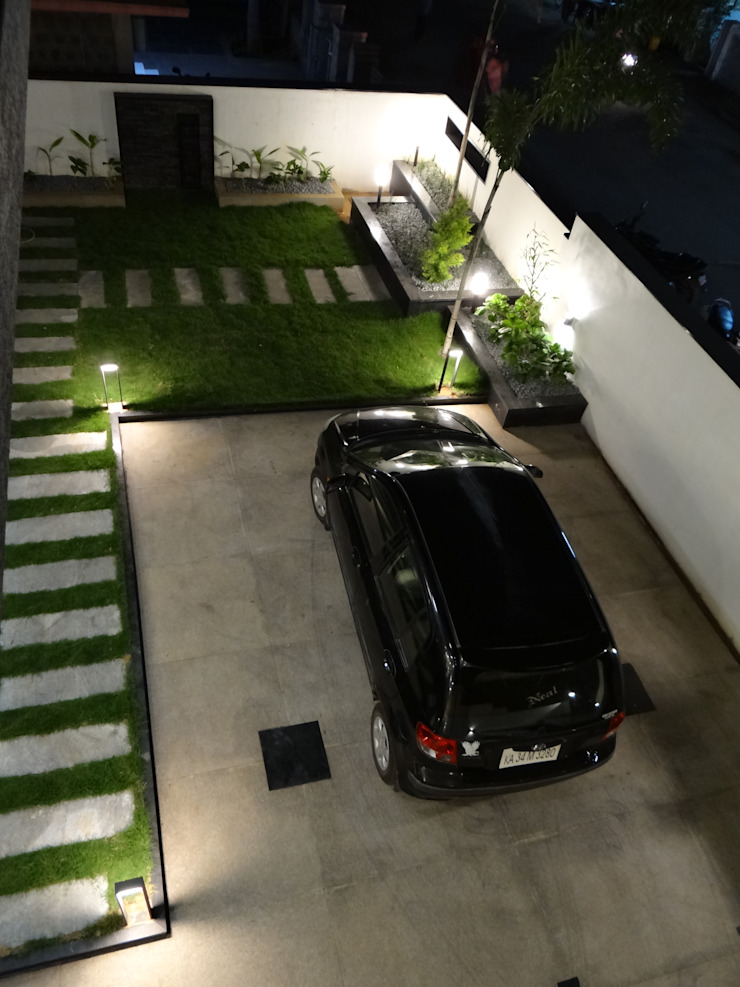 view of garden from first floor Modern garden by Hasta architects Modern