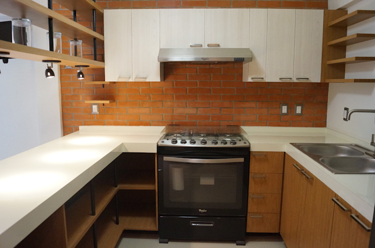 Kitchen by LOFT ESTUDIO arquitectura y diseño, Modern Bricks