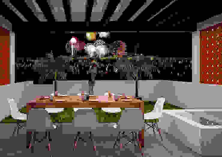 Terraza Balcones y terrazas modernos de LOFT ESTUDIO arquitectura y diseño Moderno Metal