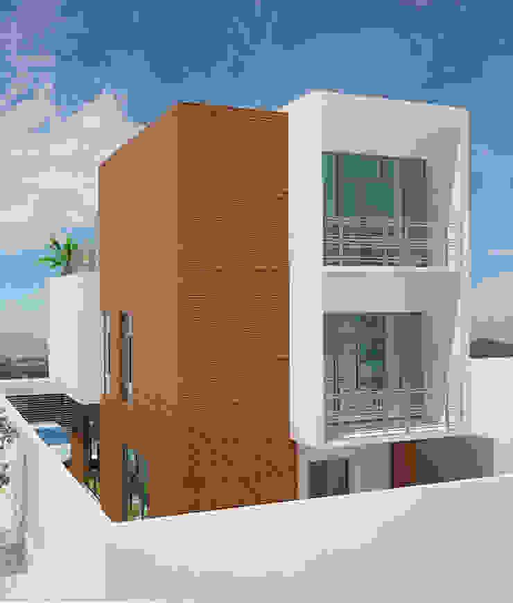 Brick House Casas modernas de LOFT ESTUDIO arquitectura y diseño Moderno