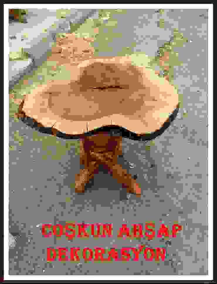 walnut table(ceviz sehpa) Coşkun Ahşap Dekorasyon Rustik Ahşap Ahşap rengi