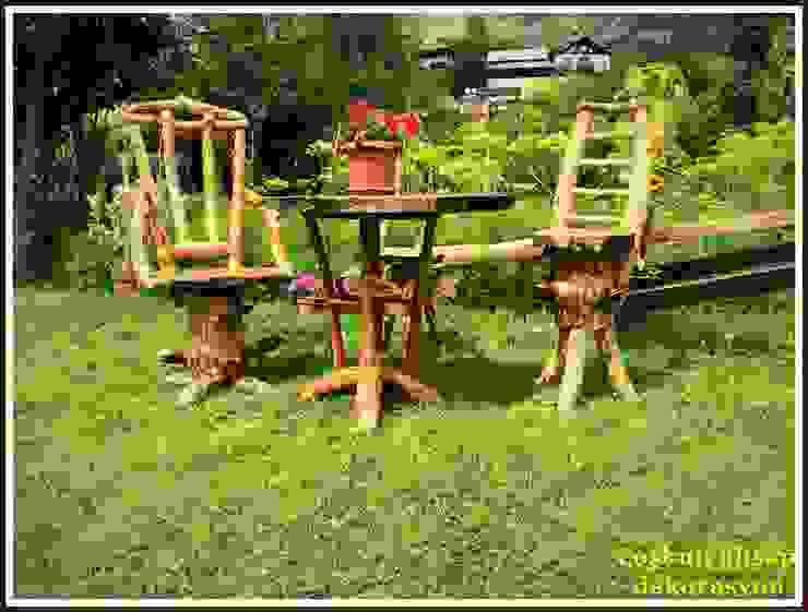 sandalye&masa(ceviz/walnut) Coşkun Ahşap Dekorasyon Rustik Ahşap Ahşap rengi