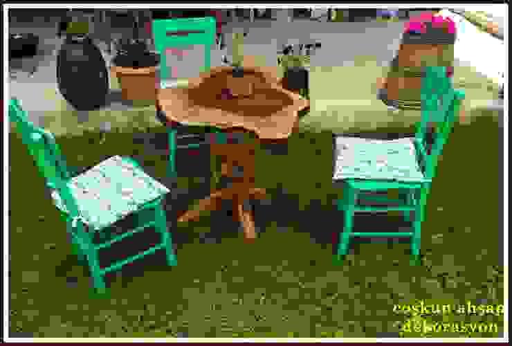 sandalye&masa Coşkun Ahşap Dekorasyon Rustik Ahşap Ahşap rengi