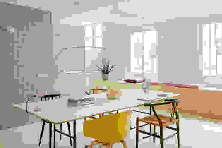 VISTA OFICINA nimú equipo de diseño Oficinas y tiendas de estilo escandinavo