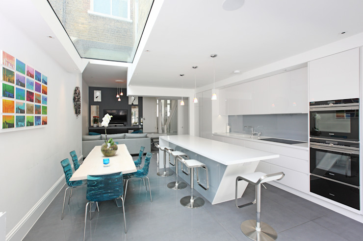 Battersea Town House PAD ARCHITECTS Modern dining room