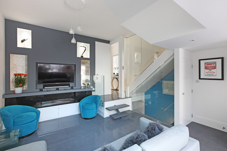 Battersea Town House PAD ARCHITECTS Media room