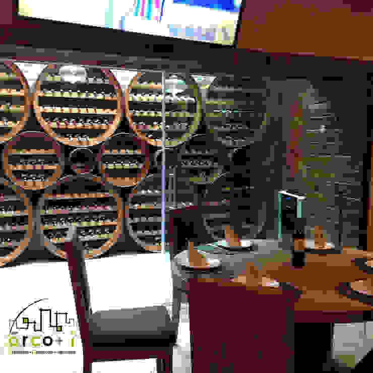 Cava de Vinos Gastronomía de estilo rústico de ARCO +I Rústico