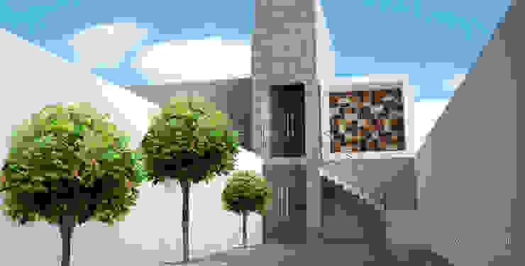 Casa Habitación AJ Casas modernas de Perspectiva Arquitectos México Moderno Concreto