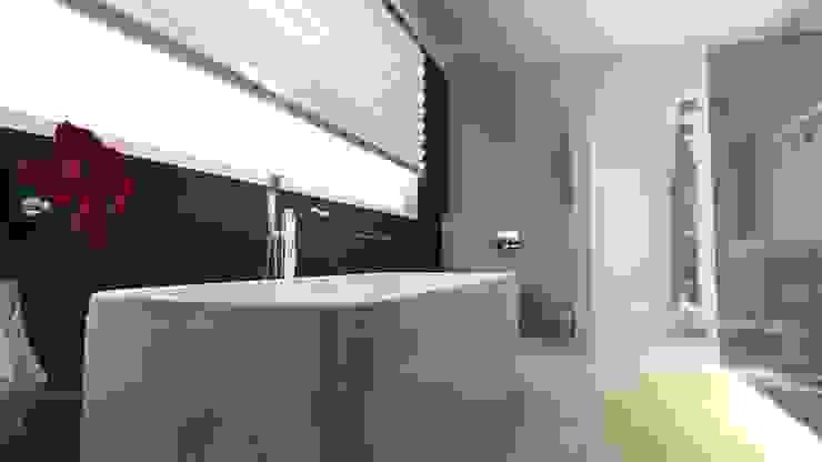 Modern bathroom by BIURO PROJEKTOWE JERZY SEROKA Modern Tiles