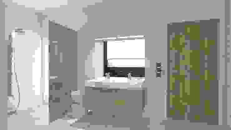 Minimalist style bathroom by BIURO PROJEKTOWE JERZY SEROKA Minimalist Ceramic
