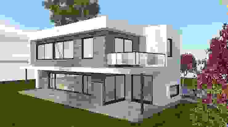 Vista desde el Jardin Casas de estilo minimalista de ARQvision BIM Sustainable Architecture Minimalista