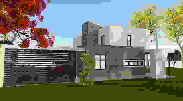 Vista desde el Jardin Cocinas de estilo minimalista de ARQvision BIM Sustainable Architecture Minimalista