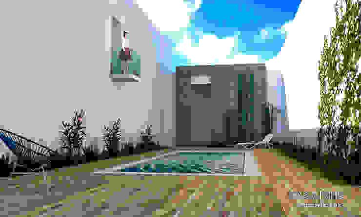 Casa CHC Jardines modernos de Perspectiva Arquitectos México Moderno Concreto