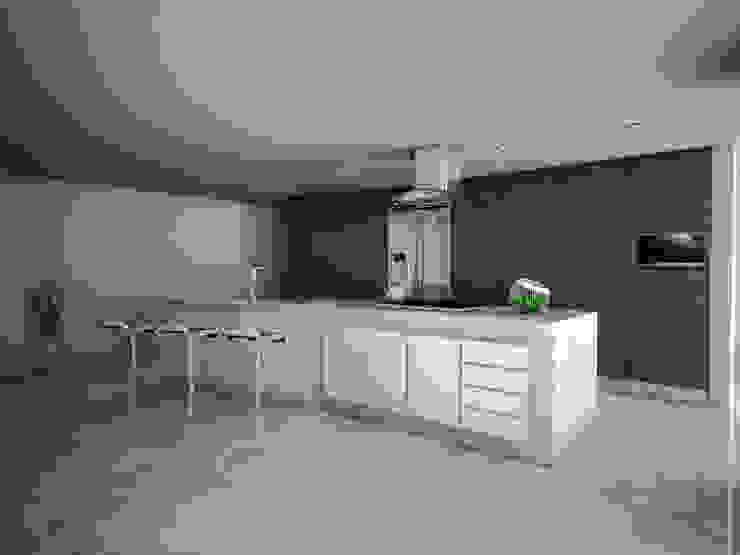 Vista Cocineta de PRISMA ARQUITECTOS Minimalista Mármol