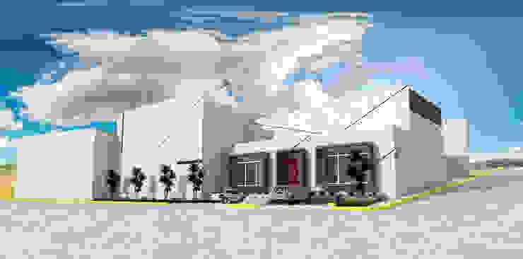 インダストリアルデザインの 書斎 の PRISMA ARQUITECTOS インダストリアル コンクリート