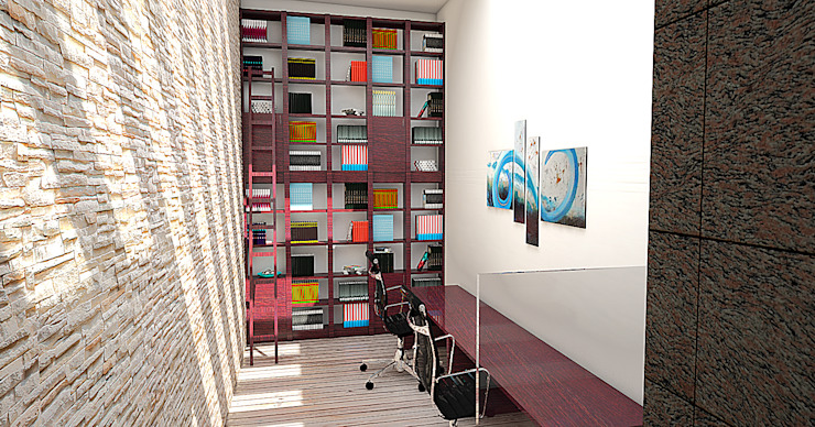 Estudio Casas modernas de PRISMA ARQUITECTOS Moderno Concreto