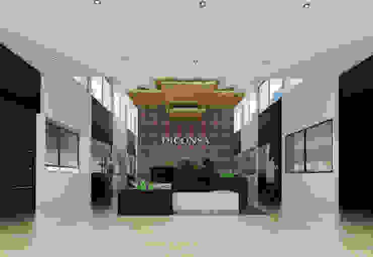 Remodelación de Lobby Diconsa de PRISMA ARQUITECTOS Moderno