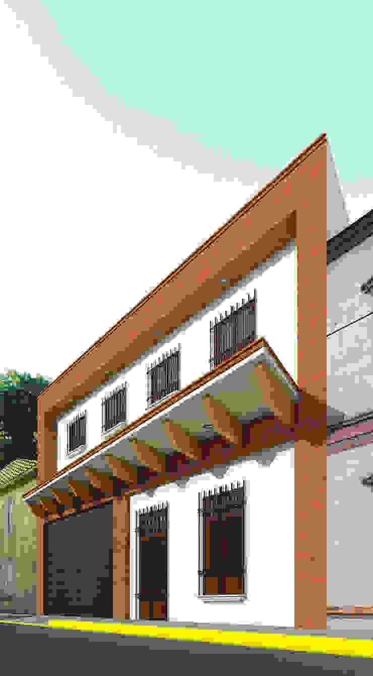 Fachada Café Bricco Estudios y despachos coloniales de PRISMA ARQUITECTOS Colonial Ladrillos
