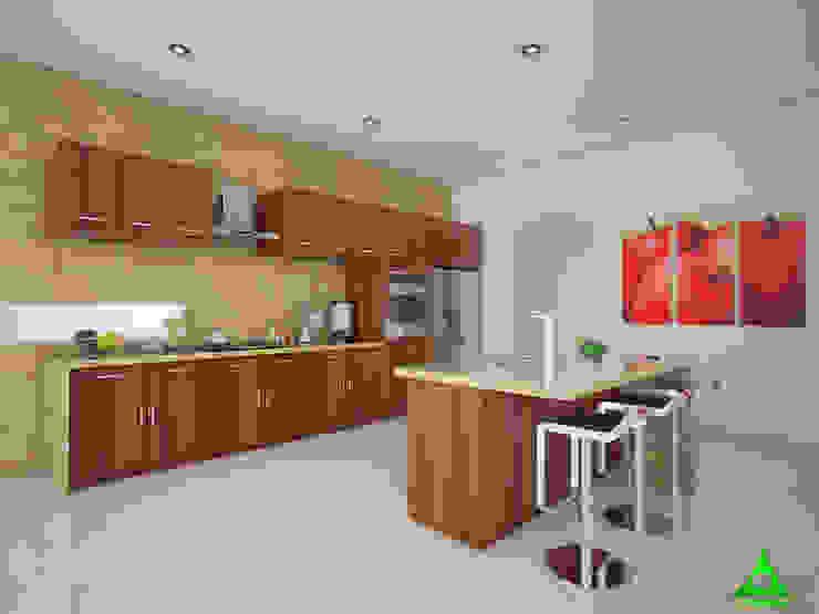 Cocina Cocinas modernas de PRISMA ARQUITECTOS Moderno Madera Acabado en madera