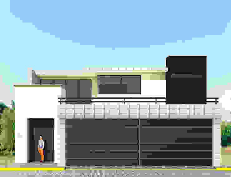 Fachada Principal Casas modernas de PRISMA ARQUITECTOS Moderno Ladrillos