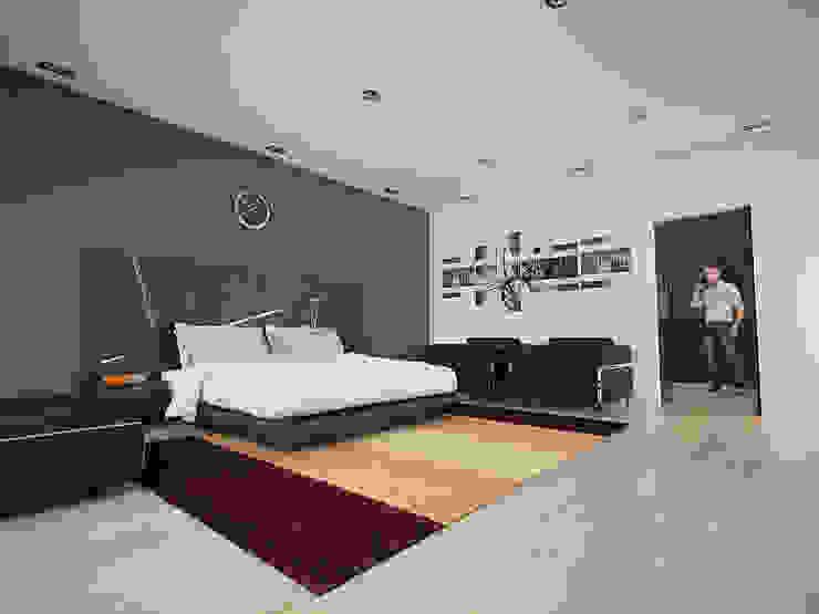 Recamara Principal Dormitorios modernos de PRISMA ARQUITECTOS Moderno Ladrillos