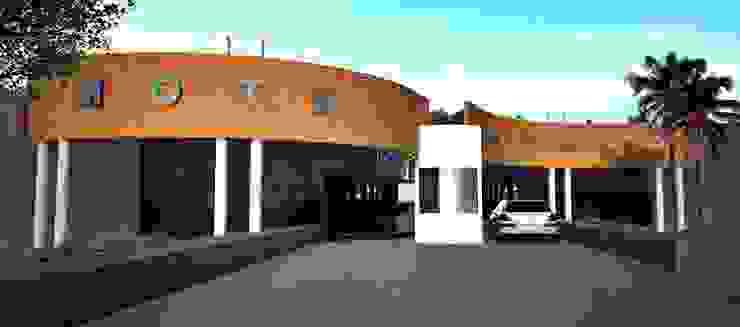Fachada de Acceso Dormitorios minimalistas de PRISMA ARQUITECTOS Minimalista Ladrillos