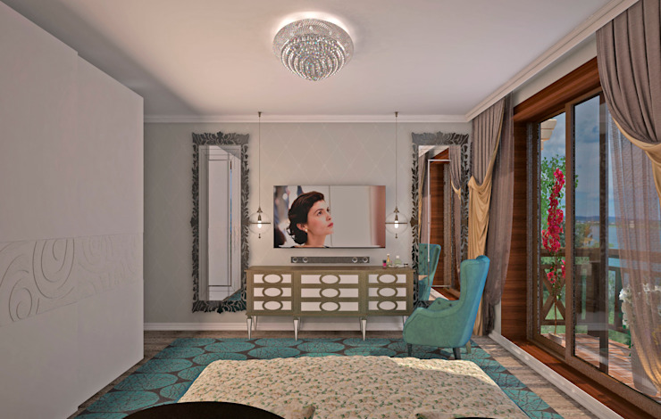 Гурьянова Наталья Dormitorios de estilo clásico Blanco